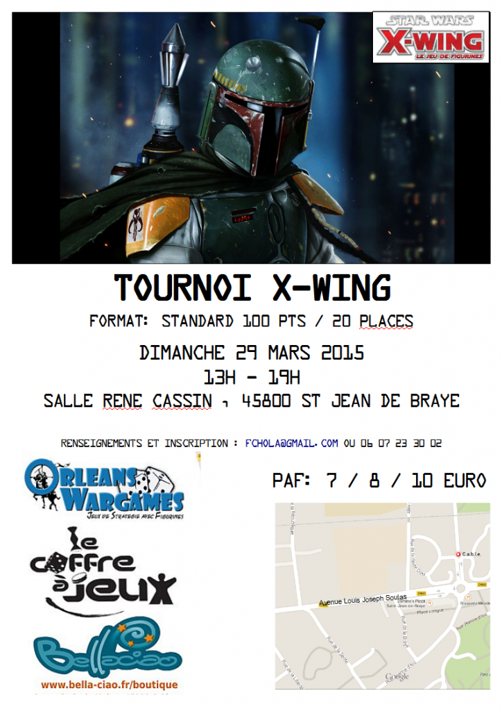 """Tournoi Xwing pour la sortie de """"Racailles et scélérats"""""""